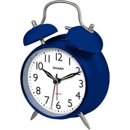 Sharp Quartz Analog Twin Bell Alarm Clock