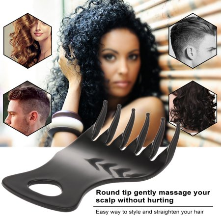 Wide Teeth Hair Comb Round Massage Tip Male Plastic Classic Oil Slick Styling Hair Brush Anti-static Detangling