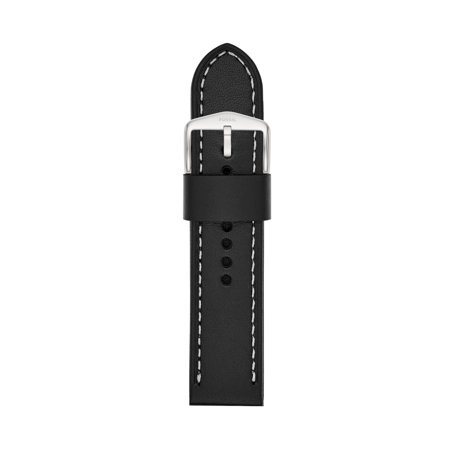 Fossil Men's 24mm Black Leather Watch Strap