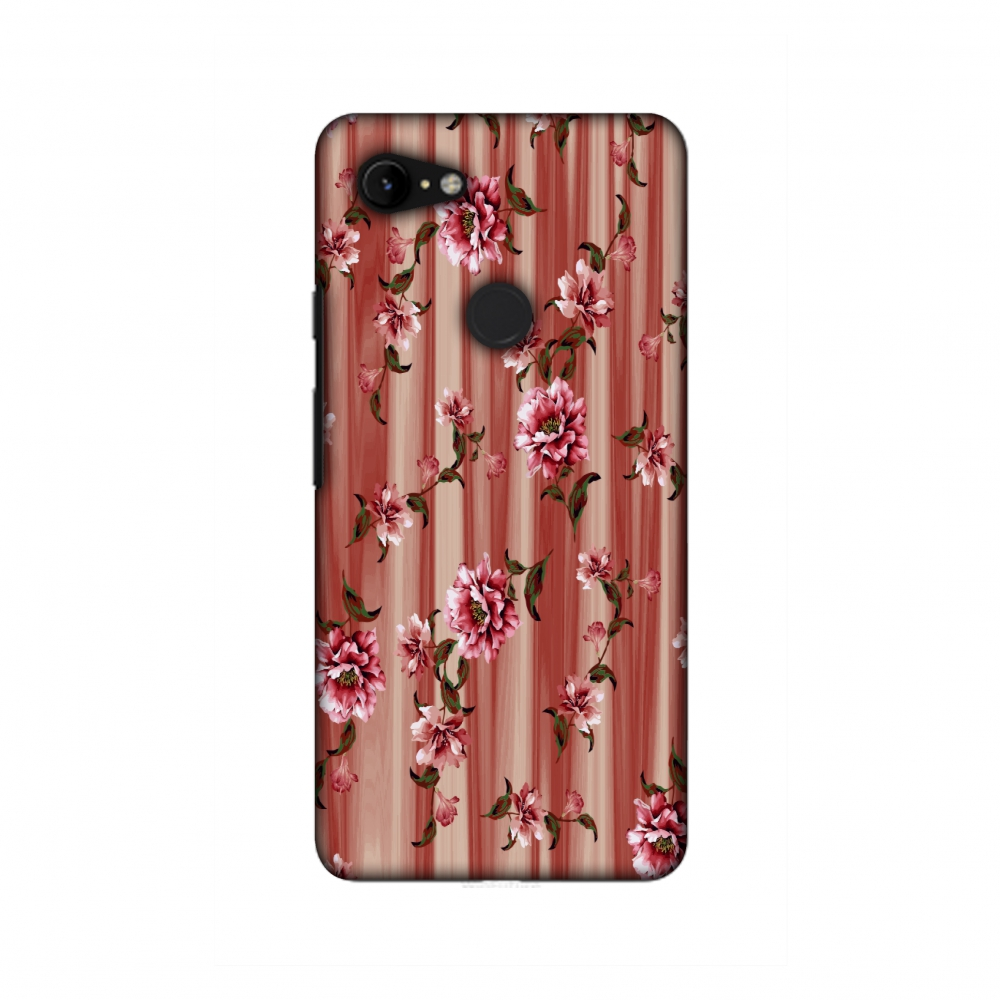 Google Pixel 3 Case, Ultra Thin Designer Hard Shell Case Back Cover for Google Pixel 3 [5.5 Inch, 2018 Release] - Dahlia - Coral and red