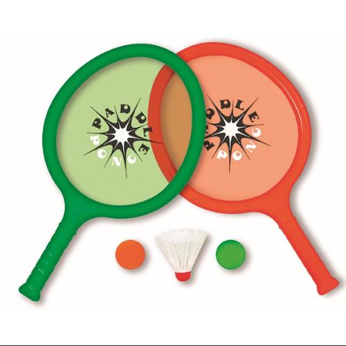 "16"" Green and Red Paddle Pong Set Swimming Pool Game"