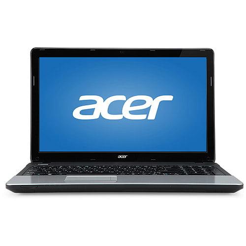 """Acer Black/Silver Aspire E E1-571-6607 15.6"""" Laptop PC with Intel Core i3-2348M processor, 4GB Memory, 500GB Hard Drive and Windows 7 Home Premium 64-Bit"""