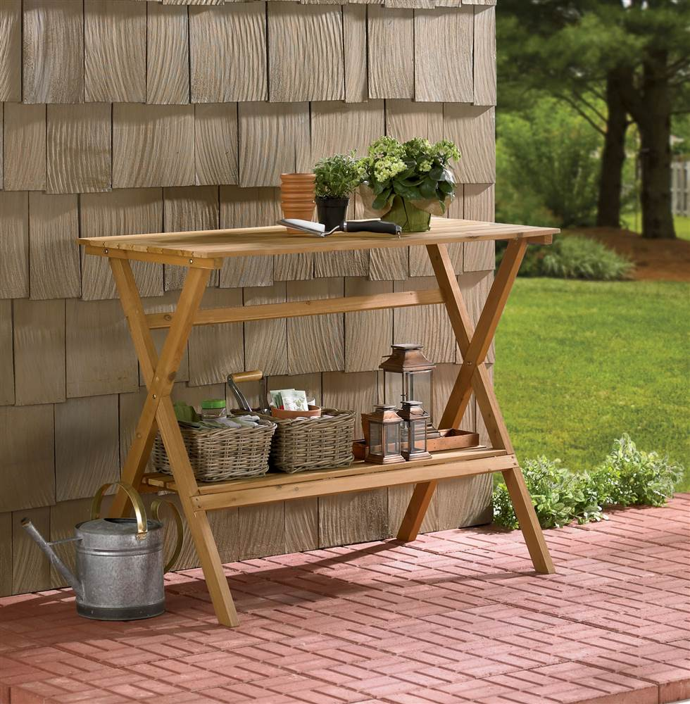 Simple Potting Bench / Console Table