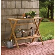 Merry Products Fir Wood Potting Bench - Brown