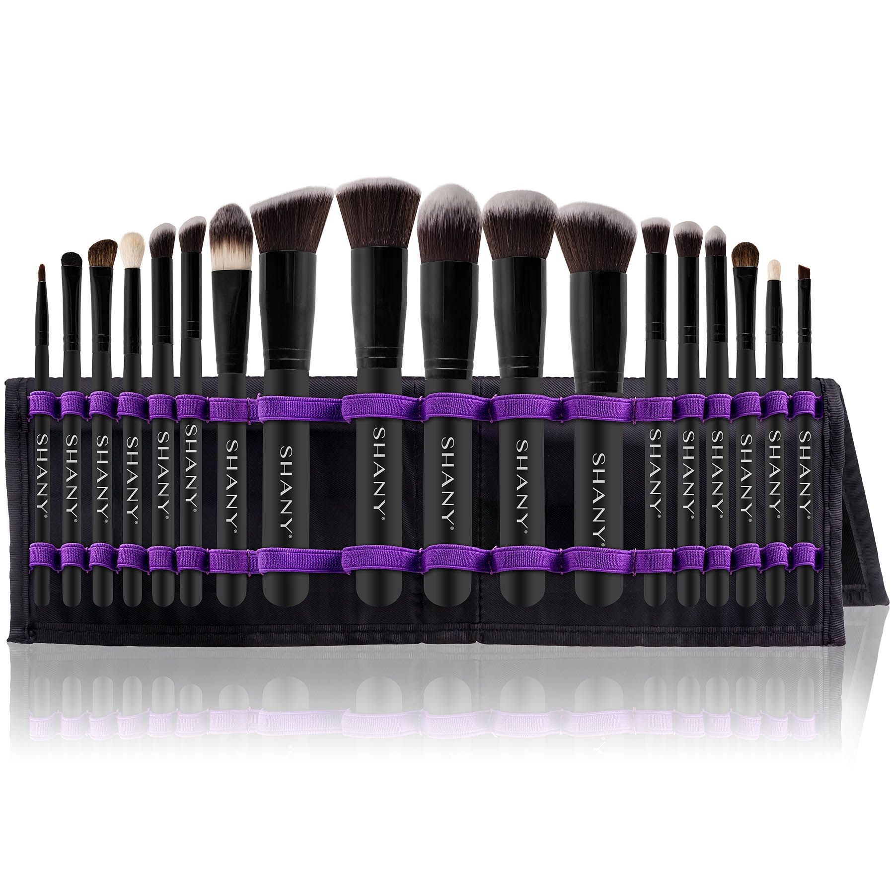 SHANY Artisan's Easel 18 Piece Elite Cosmetics Brush Collection, Black