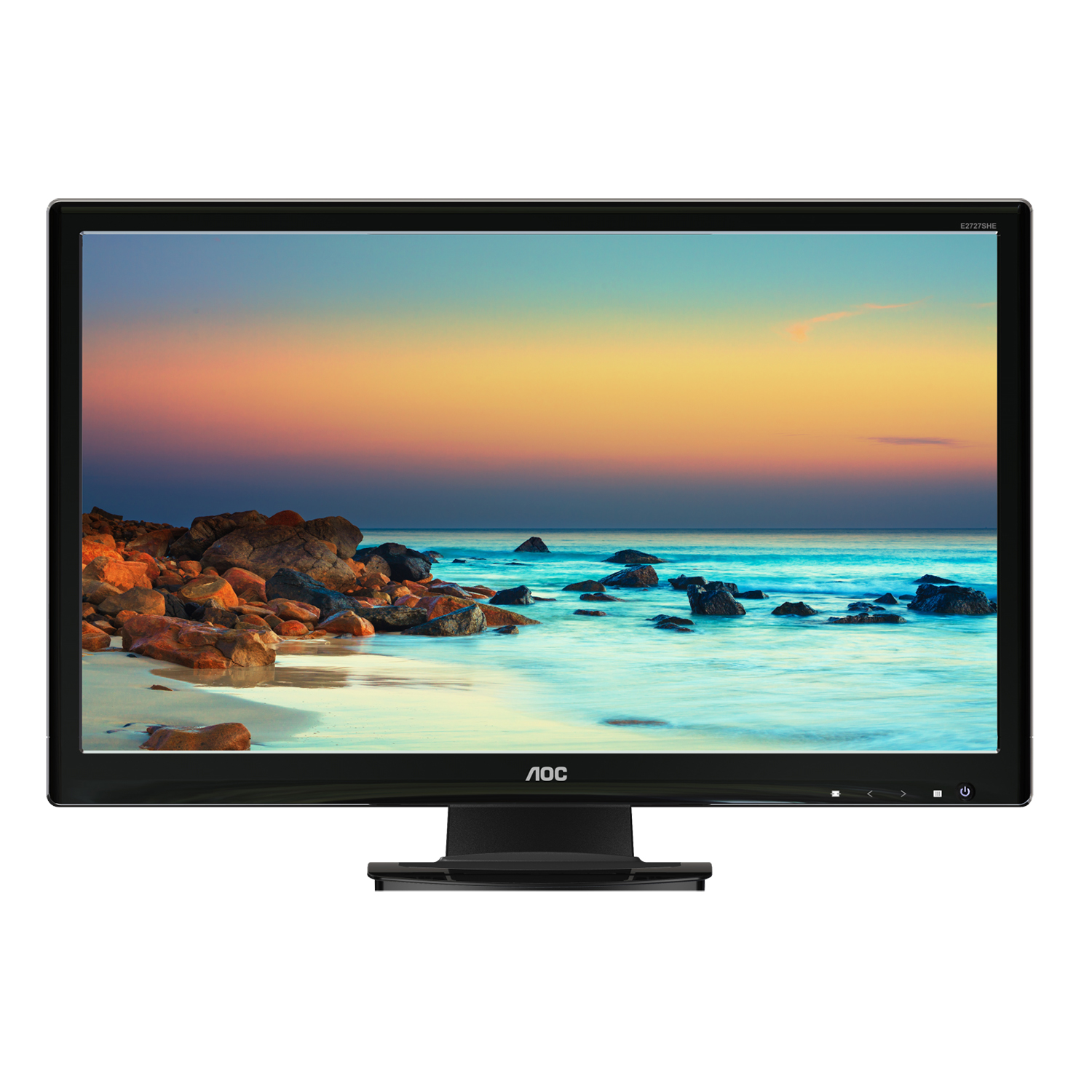 "Refurbished 27"" AOC E2770SHE HDMI/VGA HD 1080p Widescreen Slim WLED LCD Computer Monitor"
