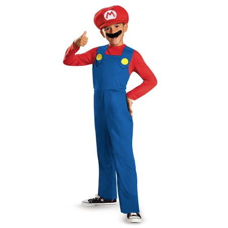 Mario Bros Costumes For Adults (Boys Mario Classic Costume)