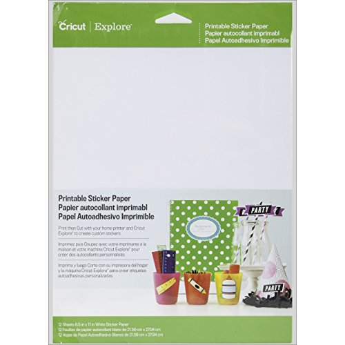 photograph about Printable Sticker Paper Walmart titled Cricut Printable Sticker Paper for Sbooking