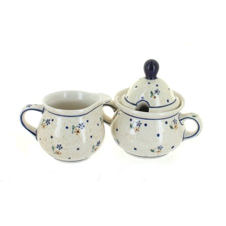 - Polish Pottery Country Meadow Sugar & Creamer