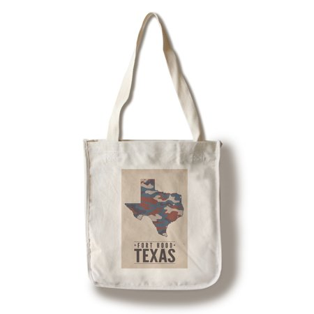 Fort Hood,Texas - The Lone Star State - Camo State - Lantern Press Poster (100% Cotton Tote Bag - Reusable)