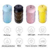 250ml Capacity Air Humidifier Home Car Color Diamond Ultra-quiet Multi-purpose Fan Night Light