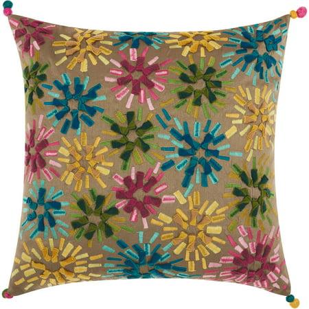 - Nourison Allegria Star Burst Multicolor Throw Pillow