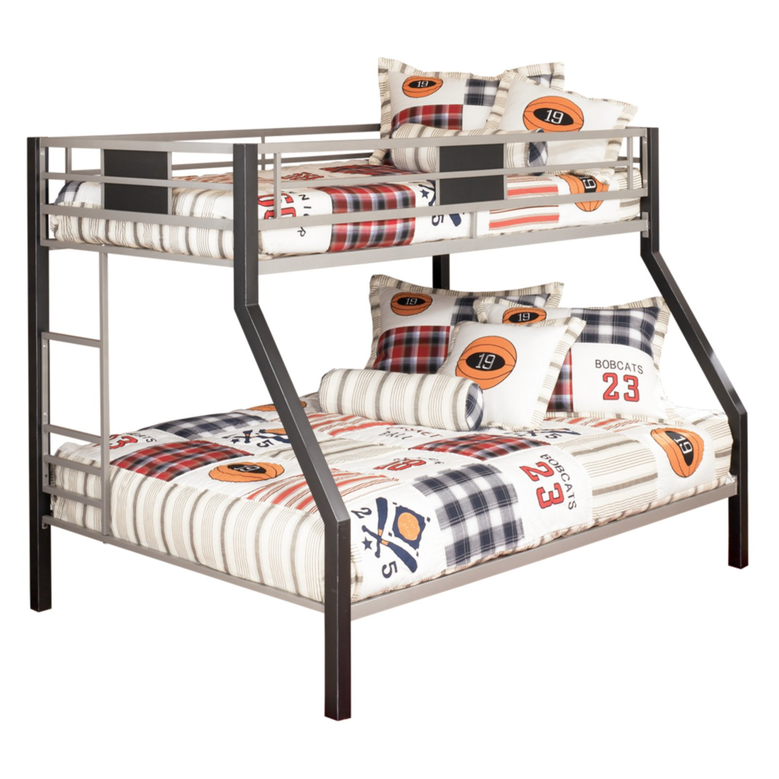Signature Design by Ashley Dinsmore Twin Over Full Bunk Bed with Ladder