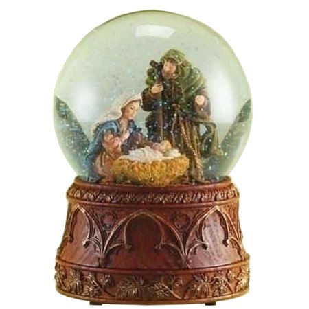 Family Snowglobe - Snow Globe Musical 6.75