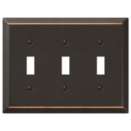 Traditional Triple Toggle Switch Wall Plate, Oil Rubbed Bronze