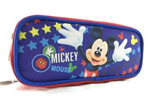 Pencil Case Disney Mickey Mouse Blue Pouch Bag Stationery New 683160 by Mickey Mouse