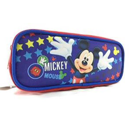 Pencil Case Disney Mickey Mouse Blue Pouch Bag Stationery New 683160