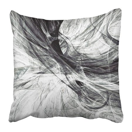 CMFUN Grey Lines in Motion Abstract Dynamic Black and White Modern Futuristic Swirl Pillow Case Cushion Cover 16x16 inch](Black And White Swirl)