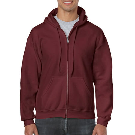 Gildan Men's and Big Men's Heavy Blend Full Zip Hooded Sweatshirt, up to Size 3XL ()