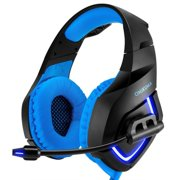 Stereo Gaming Headset for PS4, Xbox One, PC, Noise Cancelling Over Ear Headphones with Mic, Bass Surround