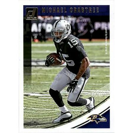 Michael Crabtree Football - Michael Crabtree 2018 Donruss Football 48 Card Lot Baltimore Ravens #218