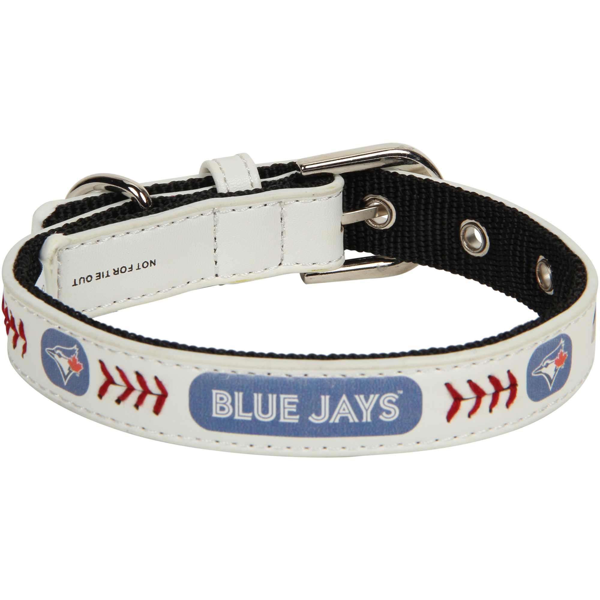Toronto Blue Jays Classic Leather Collar - White