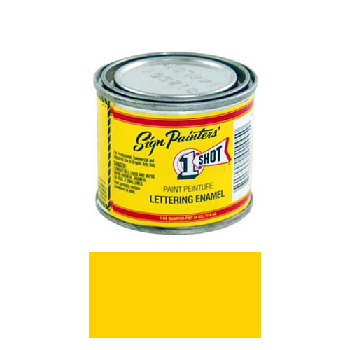 1/4 Pint 1 Shot CHROME YELLOW Paint Lettering Enamel Pinstriping & Graphic Art