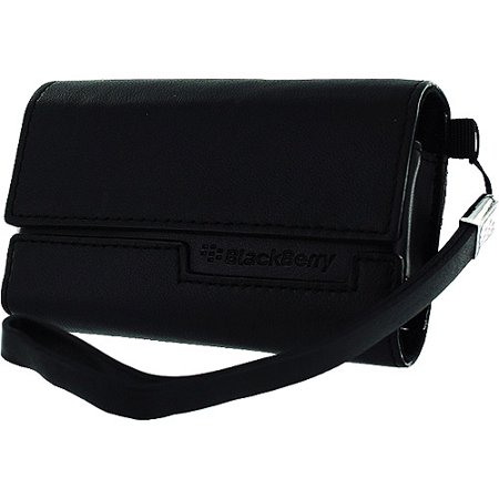 Blackberry Horizontal Leather - Pouch for cell phone - leather - black - for BlackBerry 8800, 8820, 8830; Curve 8300, 8310, 8320, (8310 Curve Mobile)