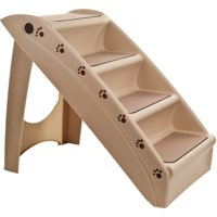 """Petmaker Foldable Dog Staircase, Beige, 22.63""""L x 15.25""""W x 19.63""""H"""