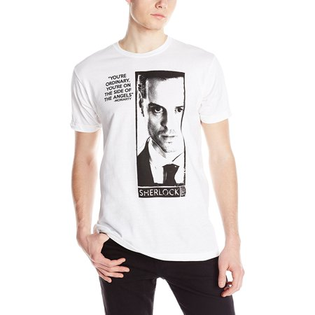 Sherlock Holmes Moriarty Quote Adult White T-Shirt