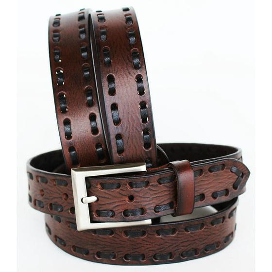 Handmade Heavy Duty Men's Dress Casual Cow Leather Belt Brown 262728RS