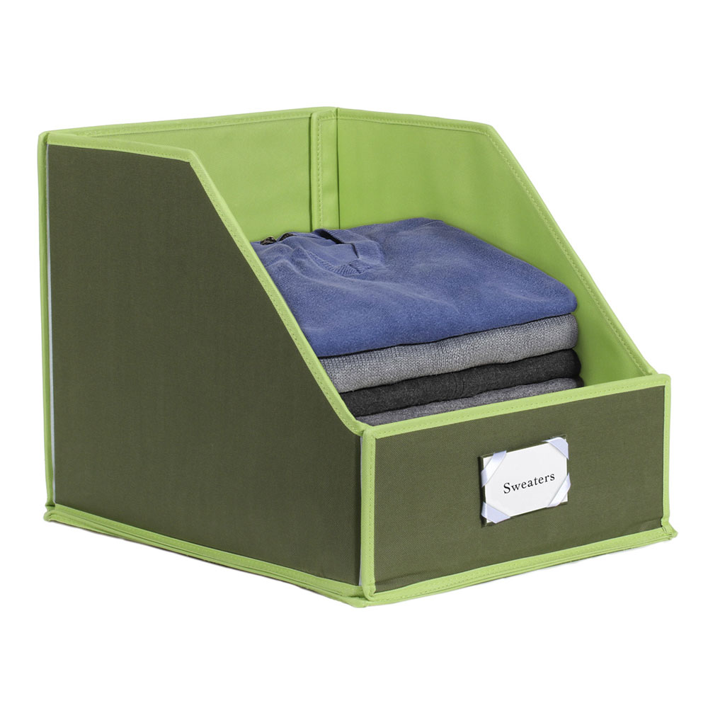 Clothing Storage Bins With Easy Access Front Panel   Olive/Green    Walmart.com