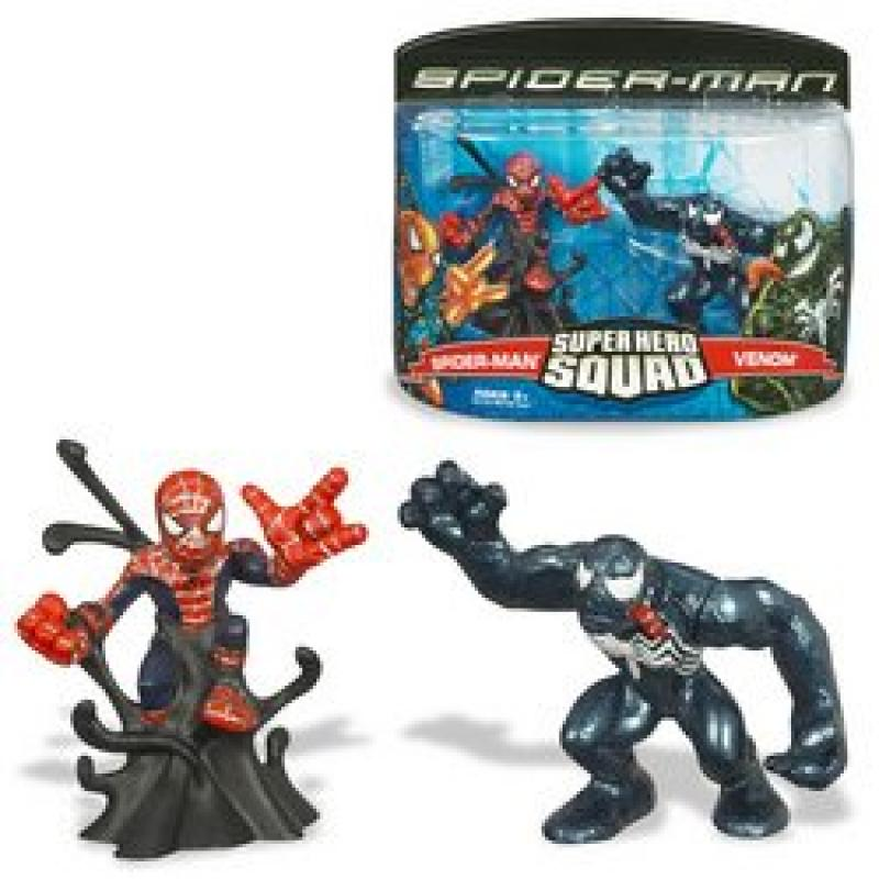 Spider-Man: Super Hero Squad Figures Spider-Man vs. Venom by