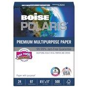 Boise POLARIS Premium Multipurpose Paper, 8 1/2 x 11, 24lb, White, 5000/CT