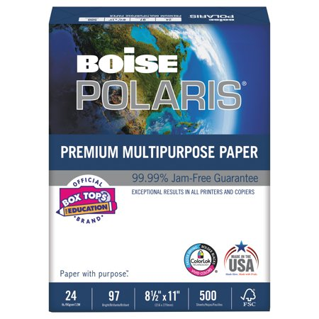 Polaris Shelf - Boise POLARIS Premium Multipurpose Paper, 8 1/2 x 11, 24lb, White, 5000/CT