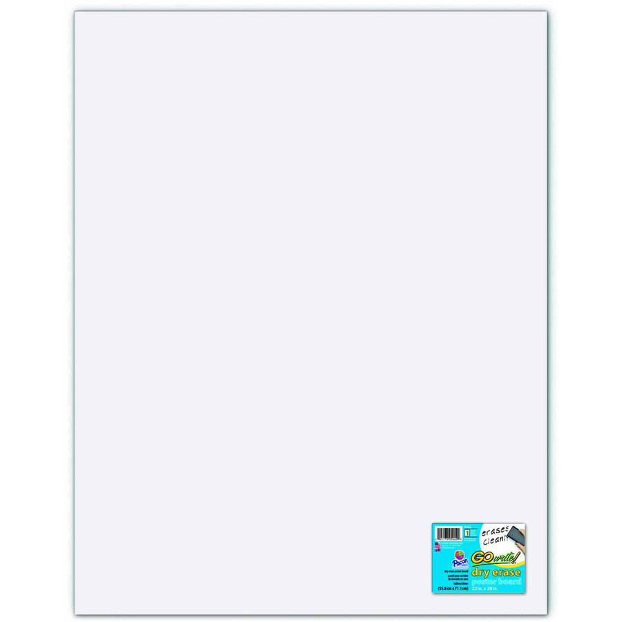 gowrite dry erase poster board multiple sizes 12 point