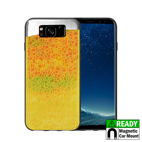 MUNDAZE Gold Yellow Holographic Magnetic Ready Case For Samsung Galaxy S8 Phone