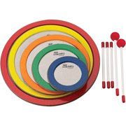 Remo Sound Shapes 5-Piece Not So Loud Circle Pack 6, 8.25, 10.5, 12.75 and 15 in. Dedicated Colors