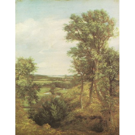 Dedham Vale 1802 Canvas Art - John Constable (18 x 24)