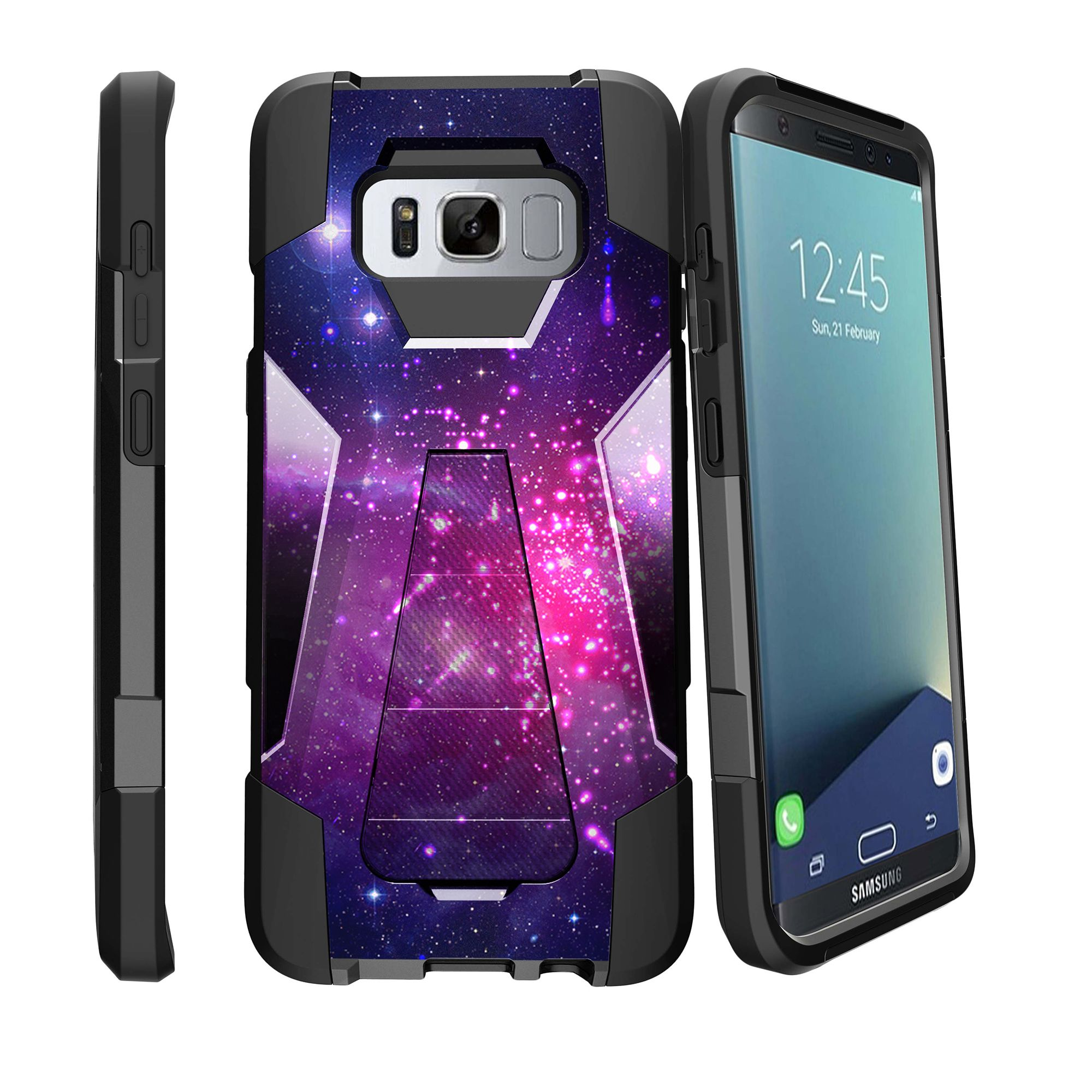 Case for Samsung Galaxy S8 PLUS version | S8 PLUS version Hybrid Case [ Shock Fusion ] Hybrid Layers and Kickstand Case Galaxy Collection