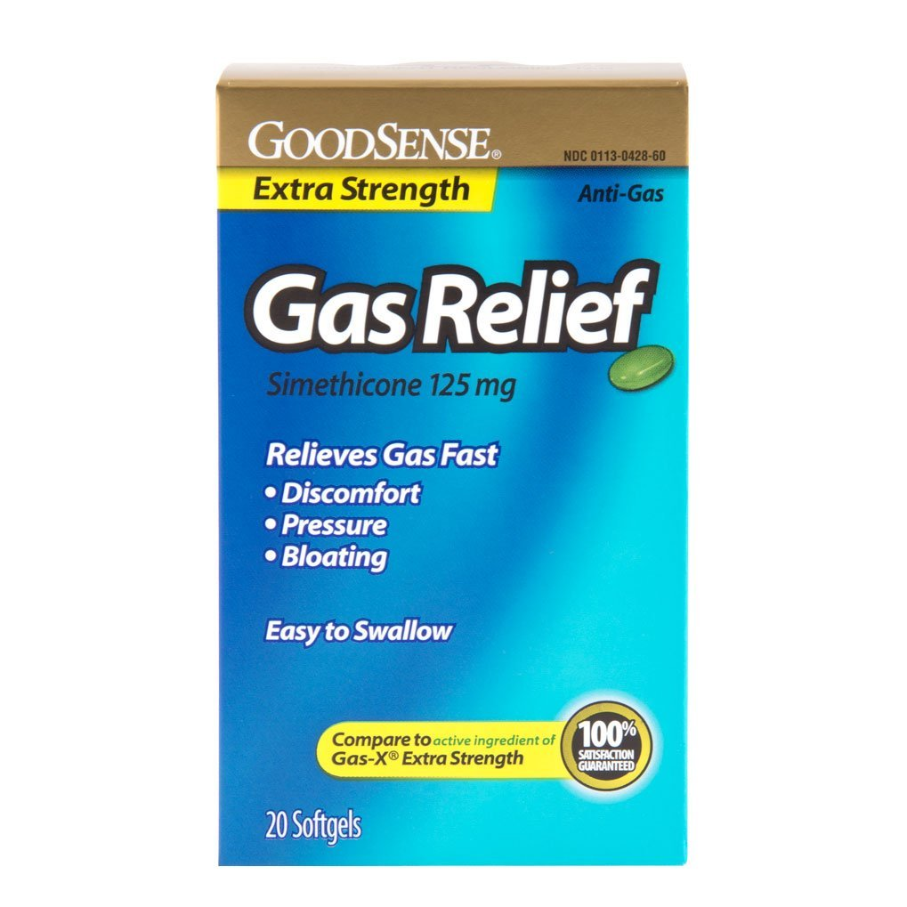 Good Sense Xs Gas Relief Softgels 125 Mg Simethicone Case Pack 24