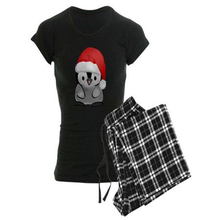 Women Holiday Pajamas (CafePress - Cute Holiday Penguin - Women's Dark Pajamas)