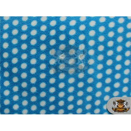 Disco Apparel (Fleece Printed Fabric * DISCO POLKA DOTS AQUA BLUE * / 58