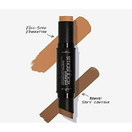 - SmashBox Studio Skin Shaping Foundation Stick - 3-3 Warm Medium Beige Plus Soft Contour 2 Pc 0.26oz Foundation, 0.14oz Soft Contour