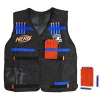 Official Nerf Tactical Vest N-Strike Elite Series Includes 2 Six-Dart Clips and 12 Official Nerf Elite Darts For Kids, Teens, and Adults ( Exclusive)