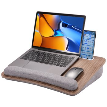 PERLESMITH Portable Lap Laptop Desk with Pillow Cushion