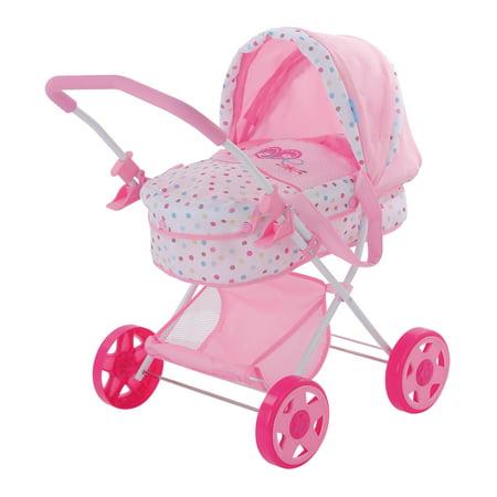 Doll Stroller (Hauck Love Heart Pretend Play Baby Doll Pram Stroller)