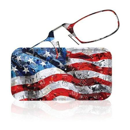 Thinoptics Glasses + 'Flag Collage' Designer Case By Deborah Shapiro (Designer Glasses Shop)