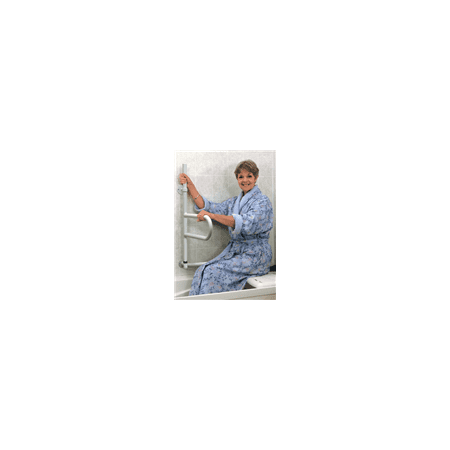 Dependa-Bar, Lower Grab Rail, White over Stainless Steel Healthcraft Grab Bar