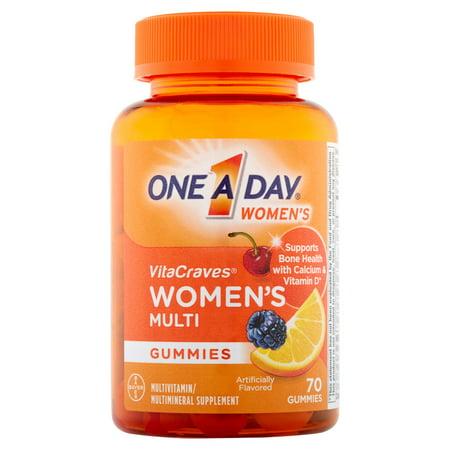 One A Day Femmes VitaCraves Femmes gélifiés multivitamines / Supplément Multiminéraux, 70 count